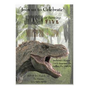 T Rex Tyrannosaurus Dinosaur Birthday Invite