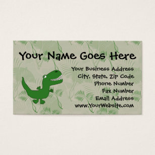 Cartoon t rex business cards templates zazzle t rex tyrannosaurus rex dinosaur cartoon kids boys business card colourmoves