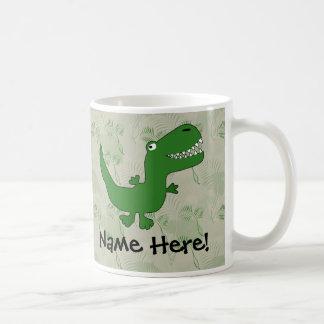 T-Rex Tyrannosaurus Rex Dinosaur Cartoon Kids Boys Coffee Mug