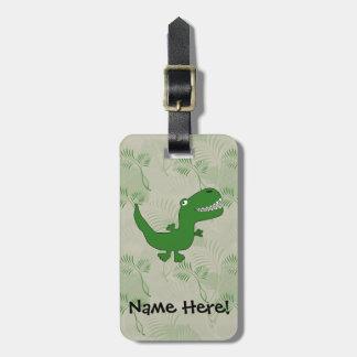 T-Rex Tyrannosaurus Rex Dinosaur Cartoon Kids Boys Luggage Tag