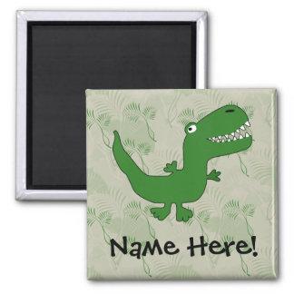 T-Rex Tyrannosaurus Rex Dinosaur Cartoon Kids Boys Magnet