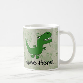 T-Rex Tyrannosaurus Rex Dinosaur Cartoon Kids Boys Classic White Coffee Mug