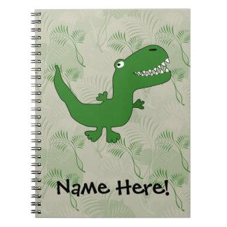 T-Rex Tyrannosaurus Rex Dinosaur Cartoon Kids Boys Notebook