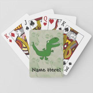 T-Rex Tyrannosaurus Rex Dinosaur Cartoon Kids Boys Playing Cards