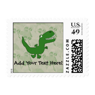 T-Rex Tyrannosaurus Rex Dinosaur Cartoon Kids Boys Postage Stamp