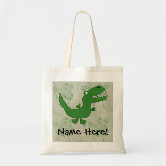 T-Rex Tyrannosaurus Rex Dinosaur Cartoon Kids Boys Tote Bag