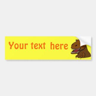 T-Rex Tyrannosaurus Rex Scary Cartoon Dinosaur Bumper Stickers
