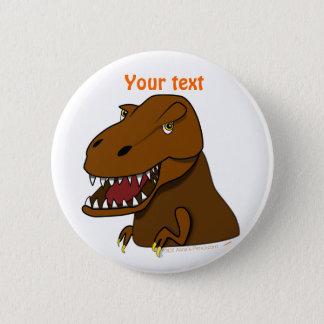 T-Rex Tyrannosaurus Rex Scary Cartoon Dinosaur Button