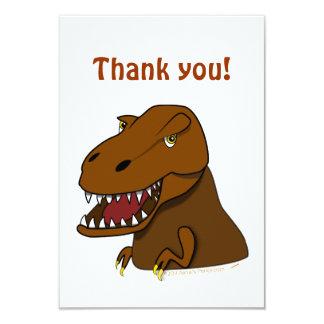 T-Rex Tyrannosaurus Rex Scary Cartoon Dinosaur Card