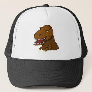 T-Rex Tyrannosaurus Rex Scary Cartoon Dinosaur Trucker Hat