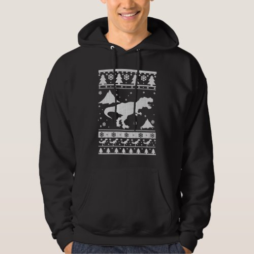 T-Rex Ugly Christmas Hoodie After Christmas Sales 2588