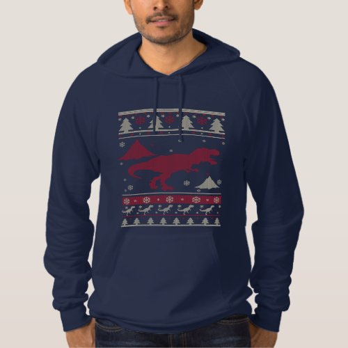 T-Rex Ugly Christmas Hoodie After Christmas Sales 2591