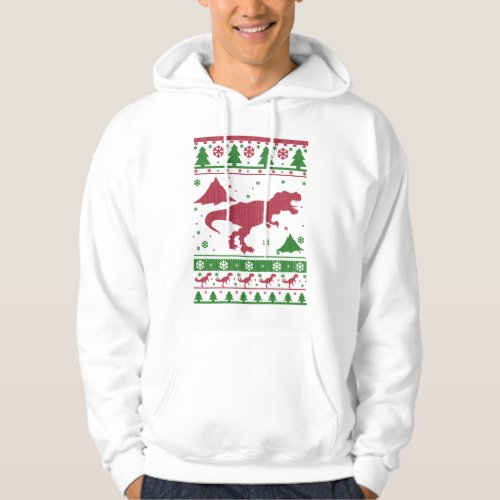 T-Rex Ugly Christmas Hoodie After Christmas Sales 2592