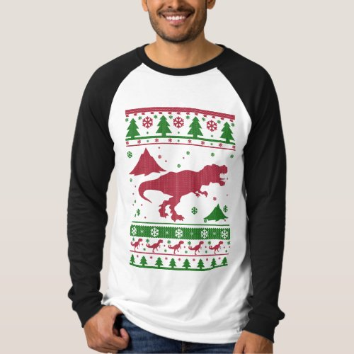 T-Rex Ugly Christmas T-Shirt After Christmas Sales 2605