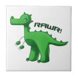 T-Rex verde Azulejo