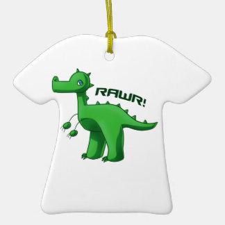 T-Rex verde Adorno De Cerámica En Forma De Camiseta