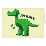 T-Rex verde Felicitación