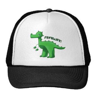 T-Rex verde Gorras