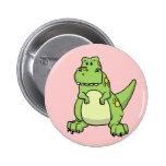 T-Rex verde lindo Pin