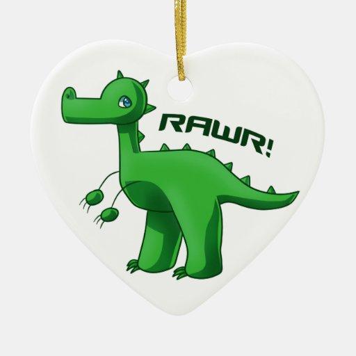T-Rex verde Ornaments Para Arbol De Navidad