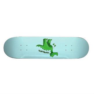 T-Rex verde Patin Personalizado