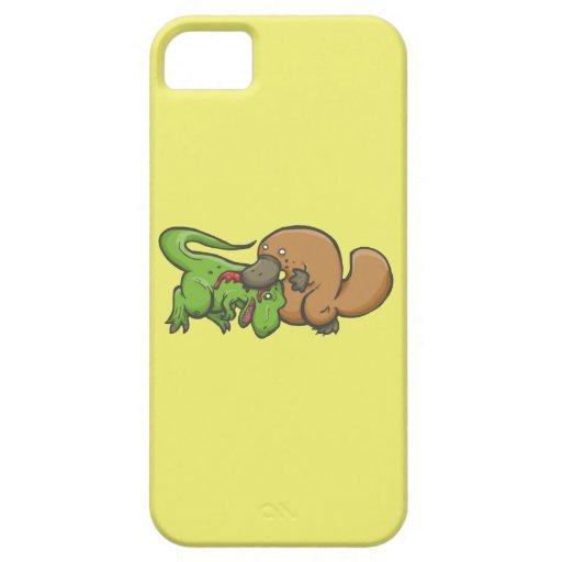 T-rex vs Platypus iPhone 5 Case