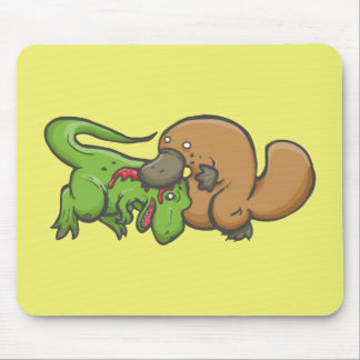 T-rex vs Platypus Mouse Pad