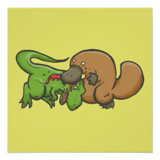 T-rex vs Platypus Poster