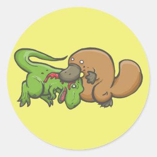 T-rex vs Platypus Sticker
