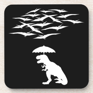 T-Rex vs the Pterodactyls Drink Coaster
