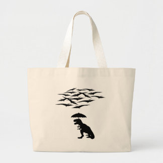 T-Rex vs the Pterodactyls Large Tote Bag