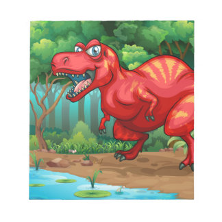 T-Rex walking in the jungle Notepads