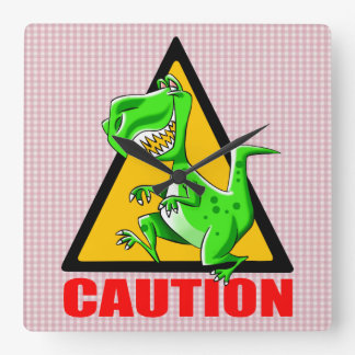 T-REX WARNING CROSSING CLOCK