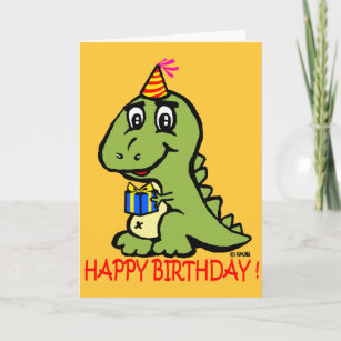 T Rex Wish You A Happy Birthday Card