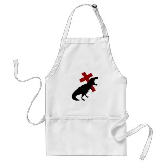 T-Rex With Cross Adult Apron