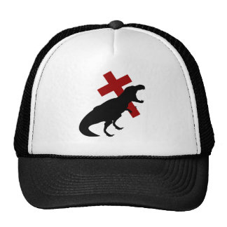 T-Rex With Cross Trucker Hat