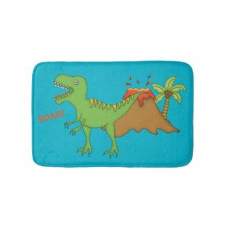T-Rex with Volcano-Kids Bath Mats