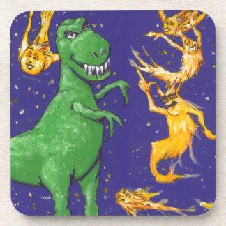 T-Rex y cometas Posavasos De Bebidas