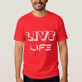 T rojo/blanco de la VIDA VIVA - Camisas