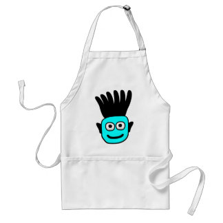 T-Ron--Kid With Funky Mohawk, Blue Adult Apron