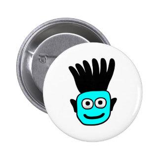 T-Ron--Niño con el Mohawk enrrollado, azul Pin