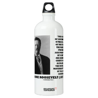 T. Roosevelt Object Government Welfare Of People Aluminum Water Bottle