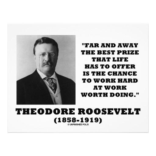 T. Roosevelt Prize Chance Work Hard Work Doing Letterhead