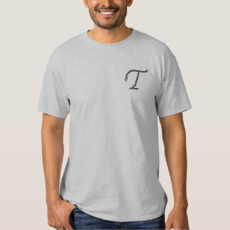 """""""T"""" Rope Alphabet 2.5"""" Embroidered T-Shirt"""