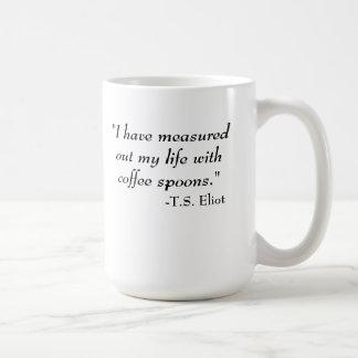 T.S. Eliot quote Coffee Mug