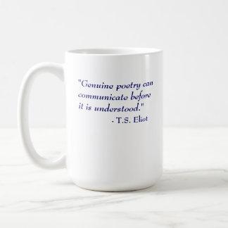 T.S. Eliot Quote - Poetry Classic White Coffee Mug