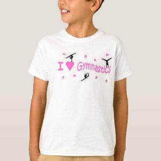 T.shirt - Amo adorno de la gimnasia Playera