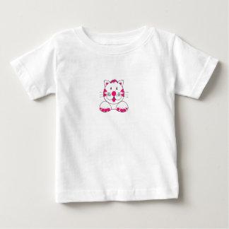 T-Shirt Baby Infants Pink Spotty Cat