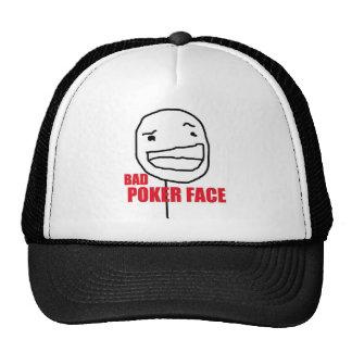 T-shirt bad Poker face Trucker Hat