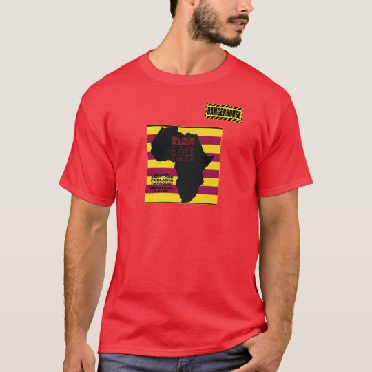 T-Shirt Black Randy Idi Amin Dangerhouse DARK